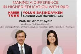 Prof. Ahmet Aydın will be Hosted by Habertürk TV