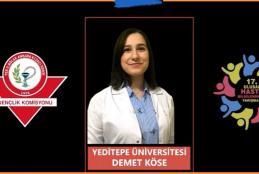 Öğrencimiz Demet KÖSE 17. Ulusal Hasta Bilgilendirme Yarışması'nda birincilik elde etmiştir