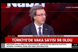 Prof. Dr. Ahmet Aydın Haber Global'de Koronvirüs Önlemlerini Anlattı