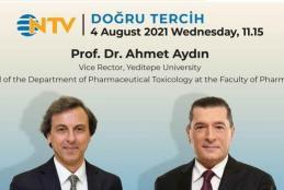 Prof. Ahmet Aydın will be Hosted by NTV